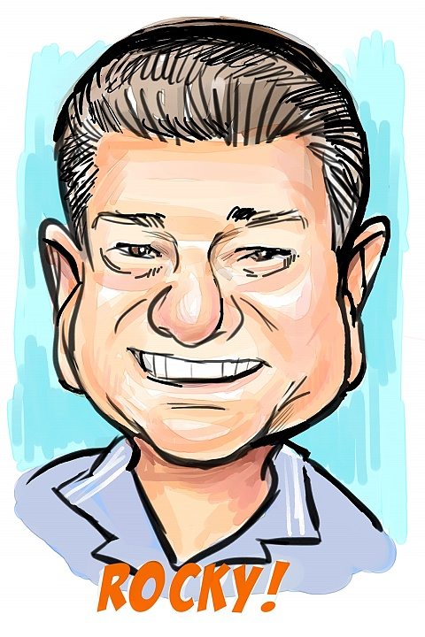 business caricature sample